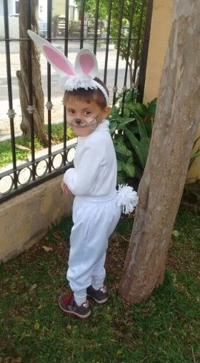 Disfraz de conejo de Pascua
